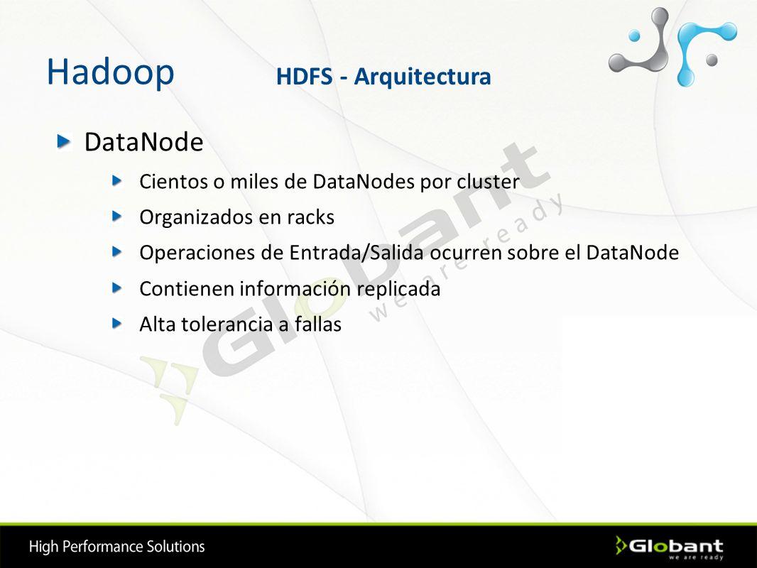 Hadoop DataNode HDFS - Arquitectura