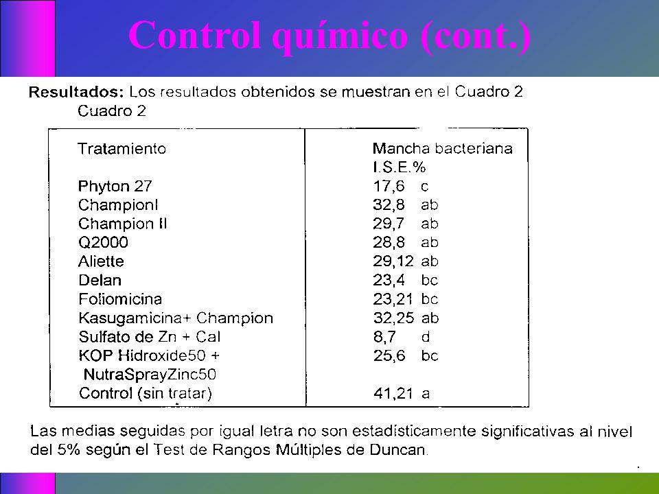 Control químico (cont.)