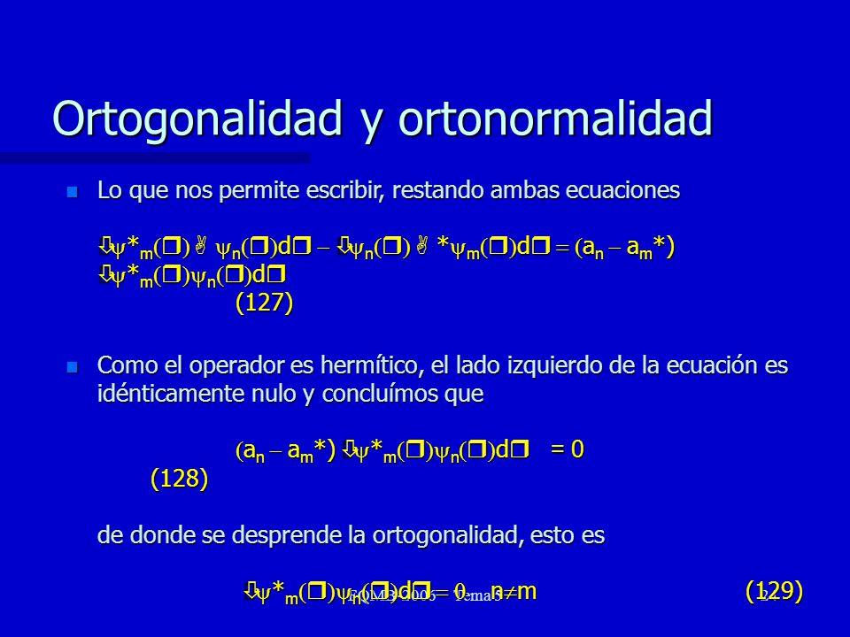 Ortogonalidad y ortonormalidad