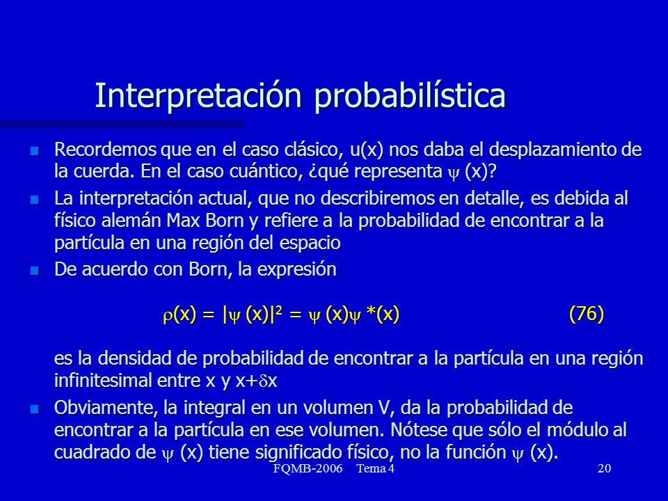 Interpretación probabilística