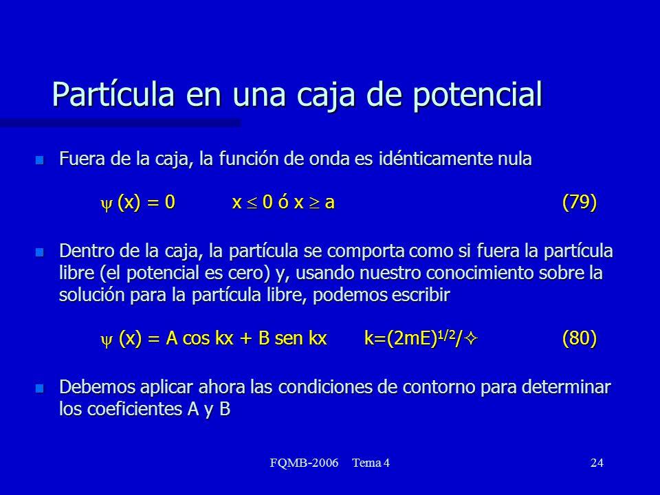 Partícula en una caja de potencial