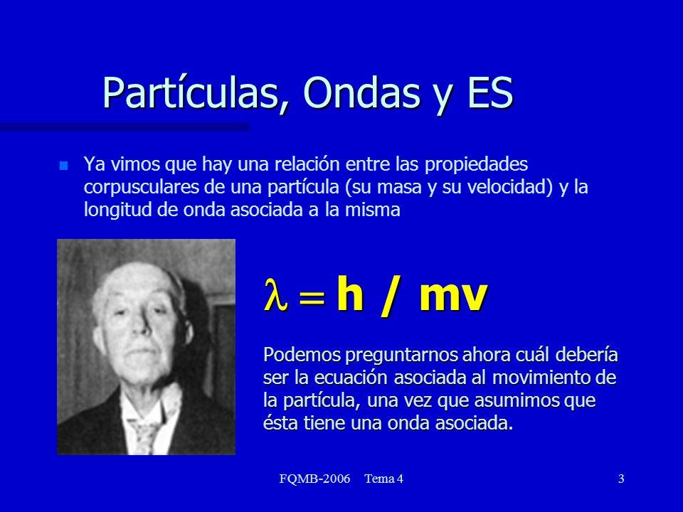 Partículas, Ondas y ES