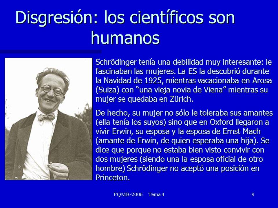 Disgresión: los científicos son humanos