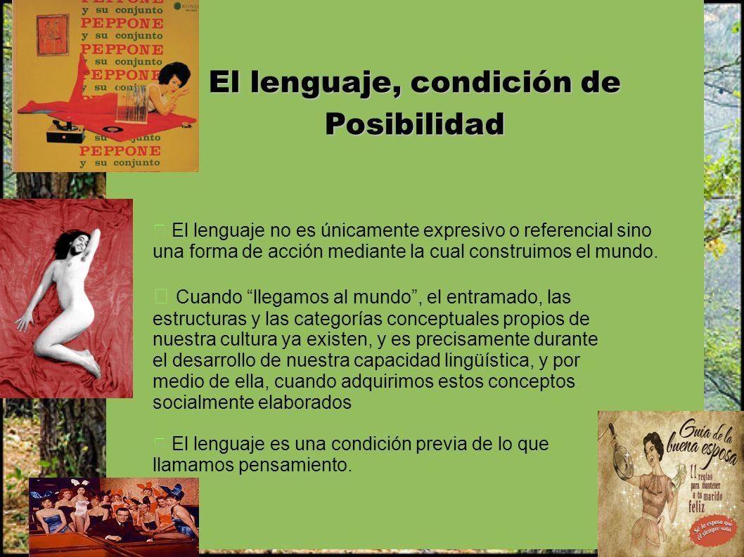 El lenguaje, condición de