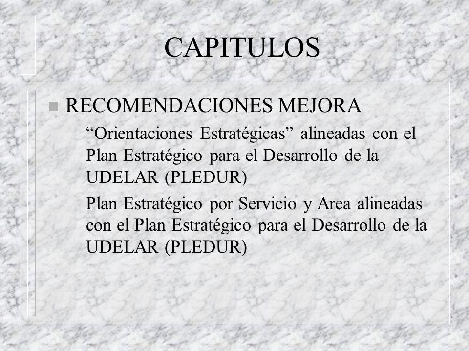 CAPITULOS RECOMENDACIONES MEJORA