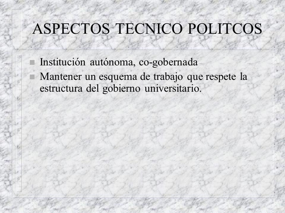 ASPECTOS TECNICO POLITCOS