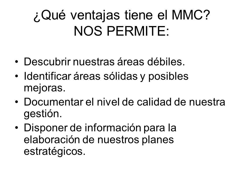 ¿Qué ventajas tiene el MMC NOS PERMITE: