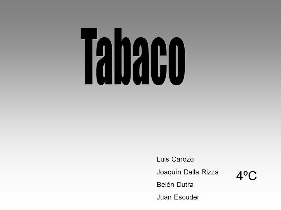 Tabaco Luis Carozo Joaquín Dalla Rizza Belén Dutra Juan Escuder 4ºC