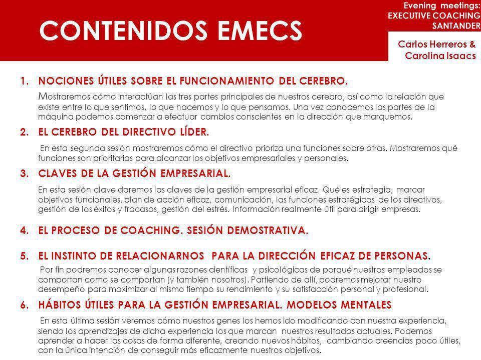 CONTENIDOS EMECS NOCIONES ÚTILES SOBRE EL FUNCIONAMIENTO DEL CEREBRO.