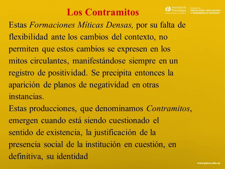 Los Contramitos Estas Formaciones Míticas Densas, por su falta de. flexibilidad ante los cambios del contexto, no.