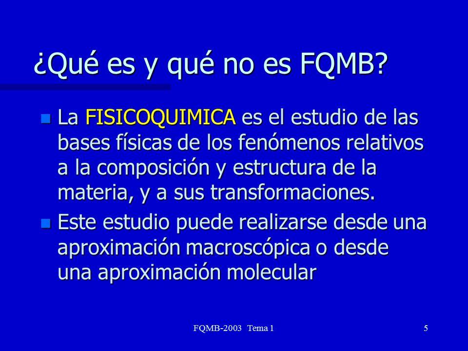 ¿Qué es y qué no es FQMB