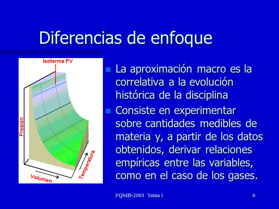 Diferencias de enfoque