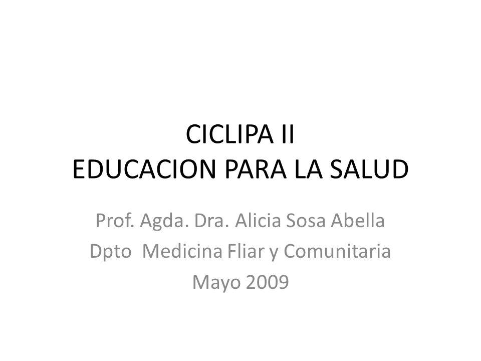 CICLIPA II EDUCACION PARA LA SALUD
