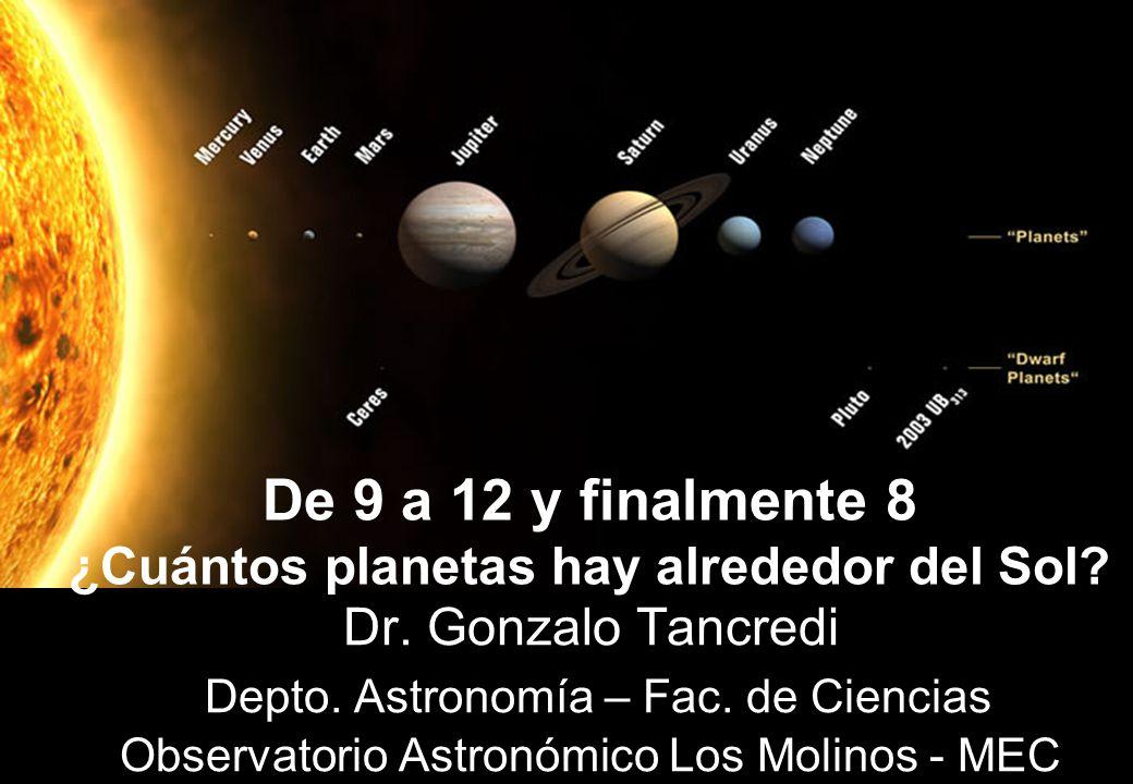 ¿Cuántos planetas hay alrededor del Sol