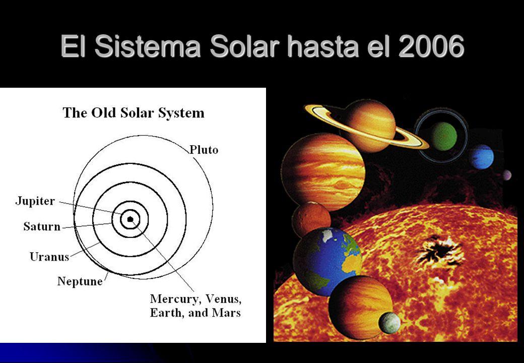 El Sistema Solar hasta el 2006