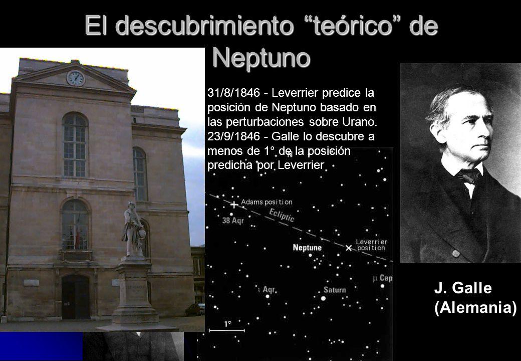 El descubrimiento teórico de Neptuno