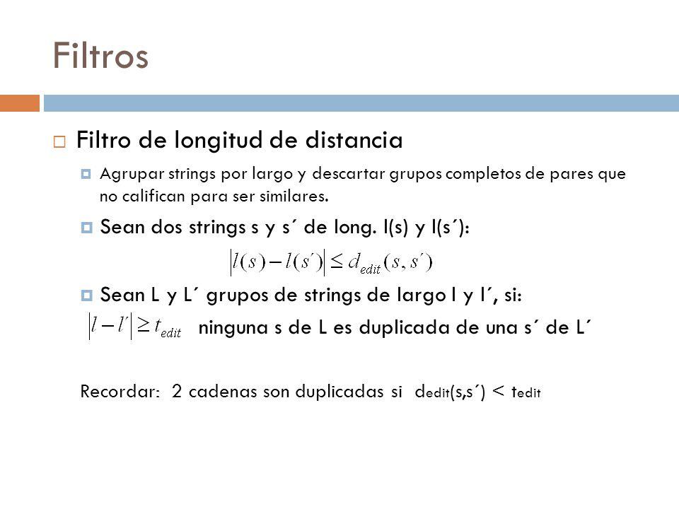Filtros Filtro de longitud de distancia