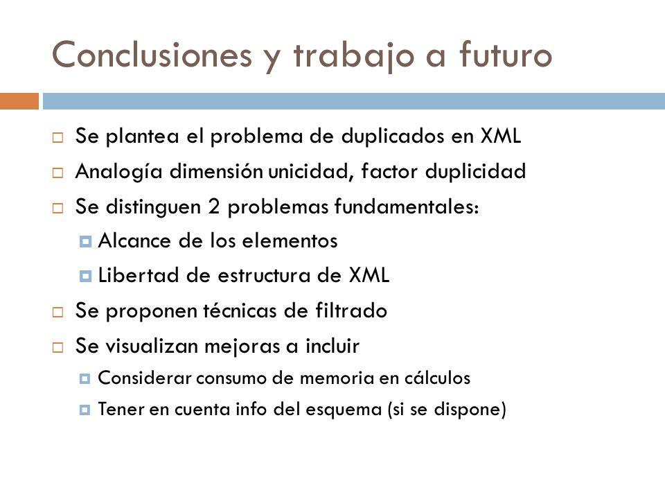 Conclusiones y trabajo a futuro