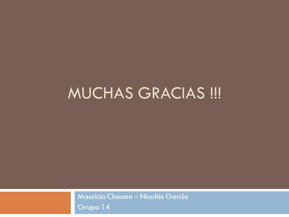 Mauricio Clausen – Nicolás García Grupo 14