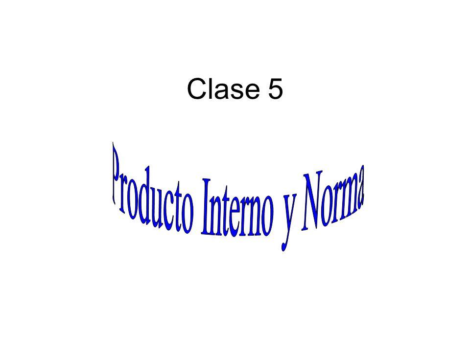 Producto Interno y Norma