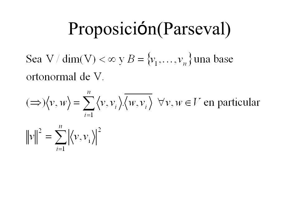 Proposición(Parseval)