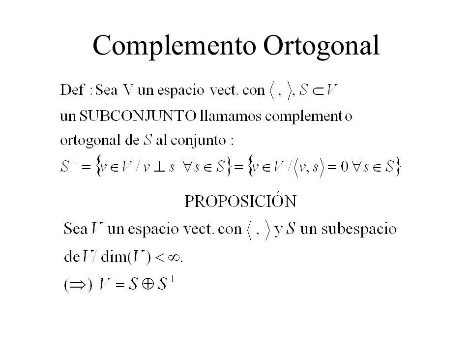 Complemento Ortogonal
