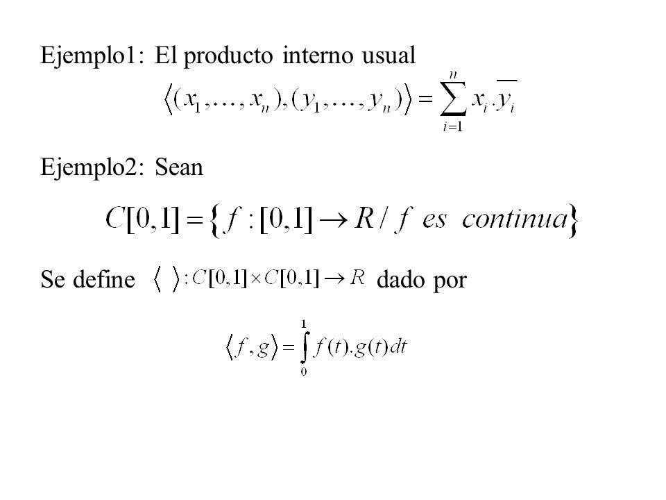 Ejemplo1: El producto interno usual