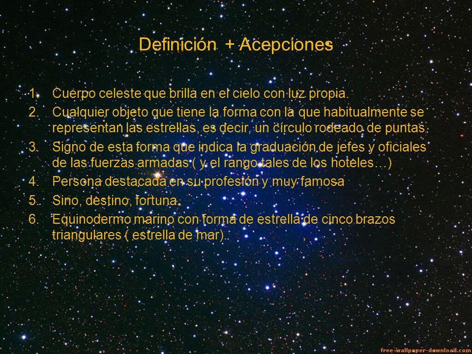 Definición + Acepciones