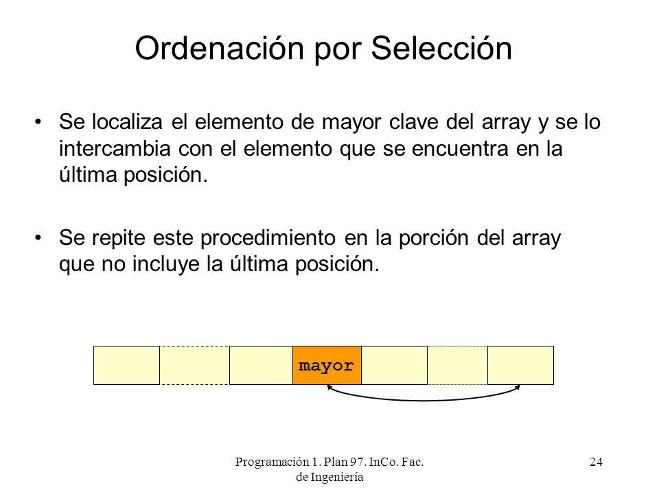 Ordenación por Selección