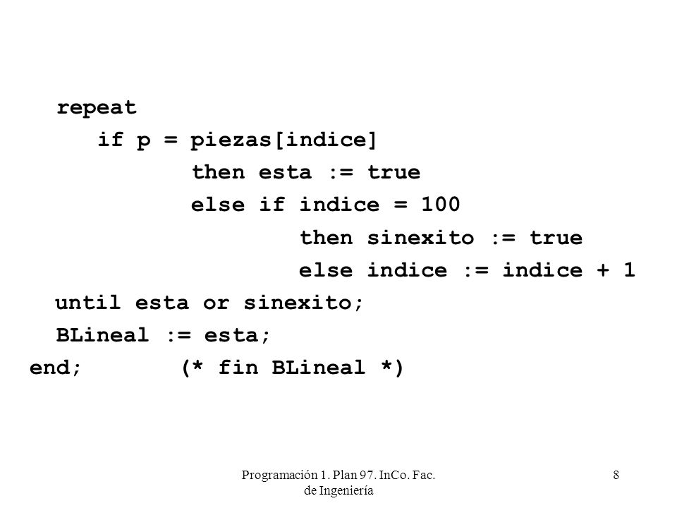 Programación 1. Plan 97. InCo. Fac. de Ingeniería