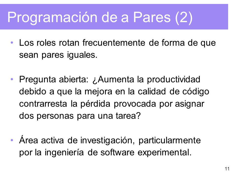Programación de a Pares (2)