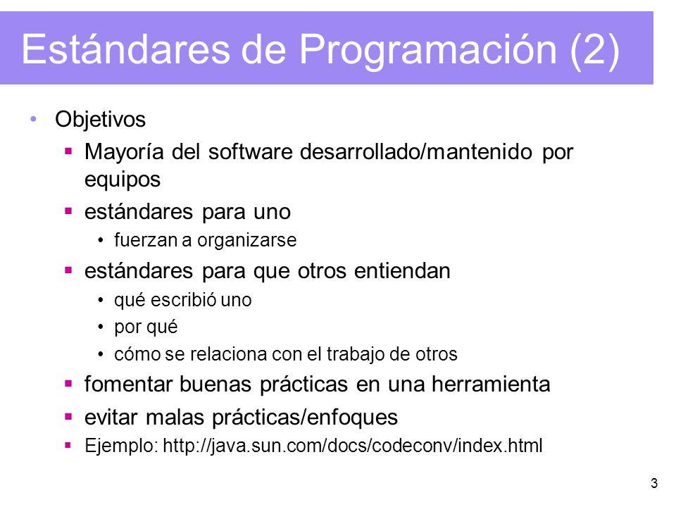 Estándares de Programación (2)