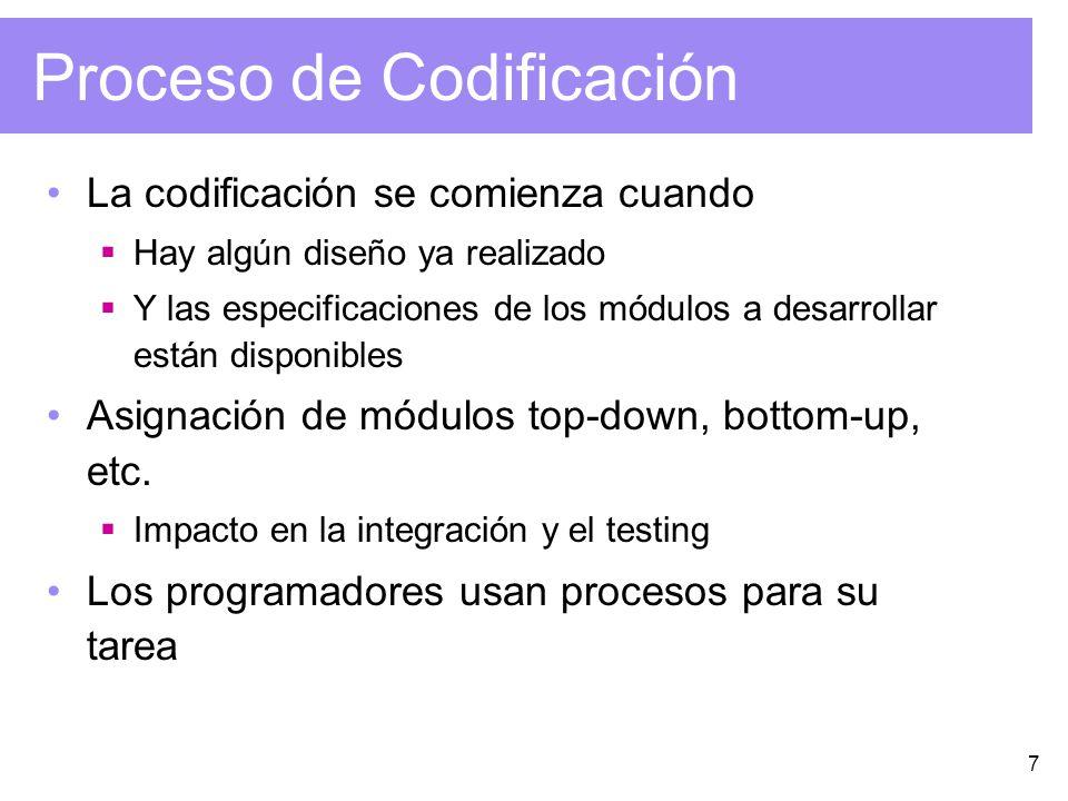 Proceso de Codificación