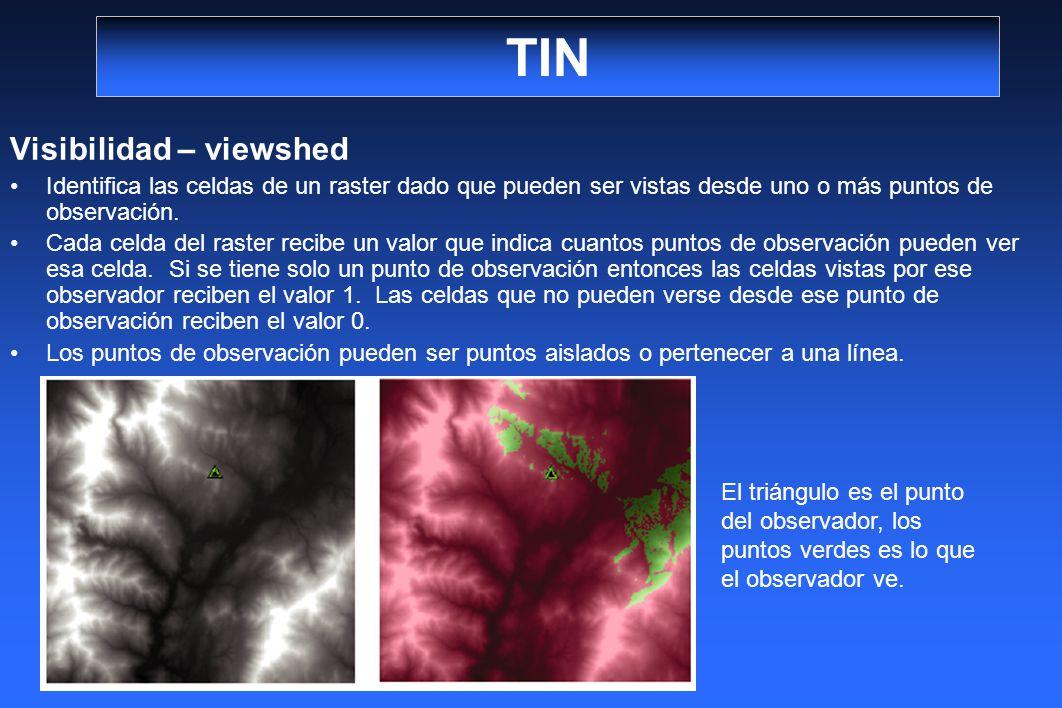 TIN Visibilidad – viewshed