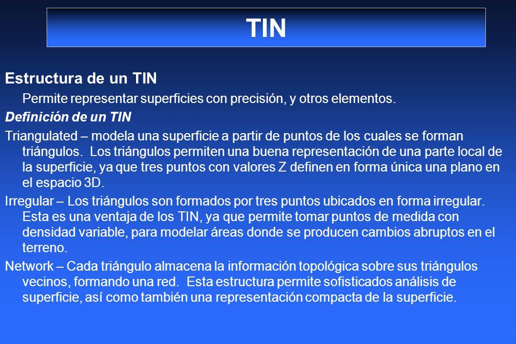TIN Estructura de un TIN