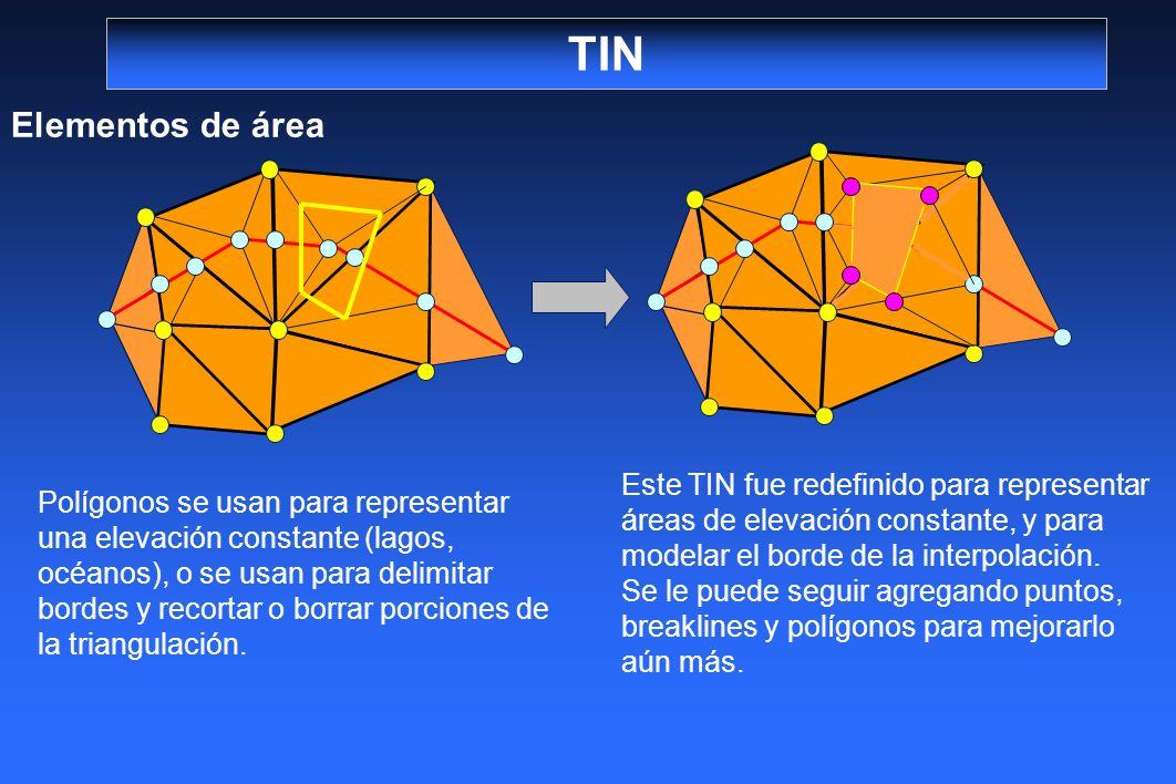 TIN Elementos de área.