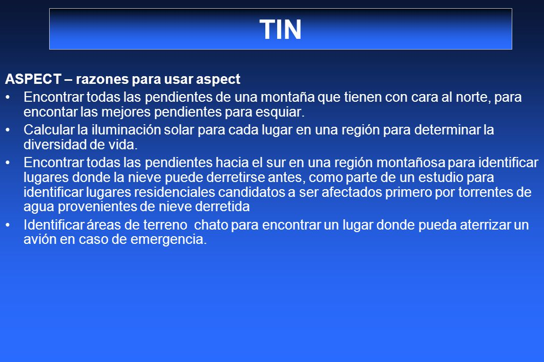 TIN ASPECT – razones para usar aspect