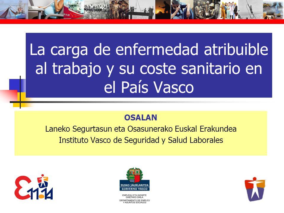 La carga de enfermedad atribuible al trabajo y su coste sanitario en el País Vasco