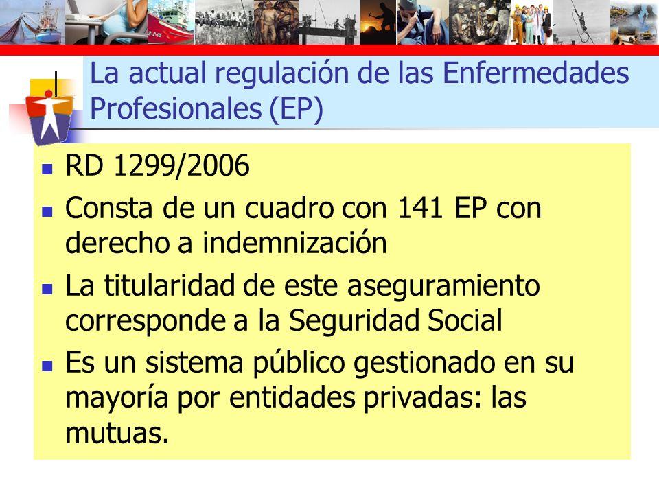 La actual regulación de las Enfermedades Profesionales (EP)