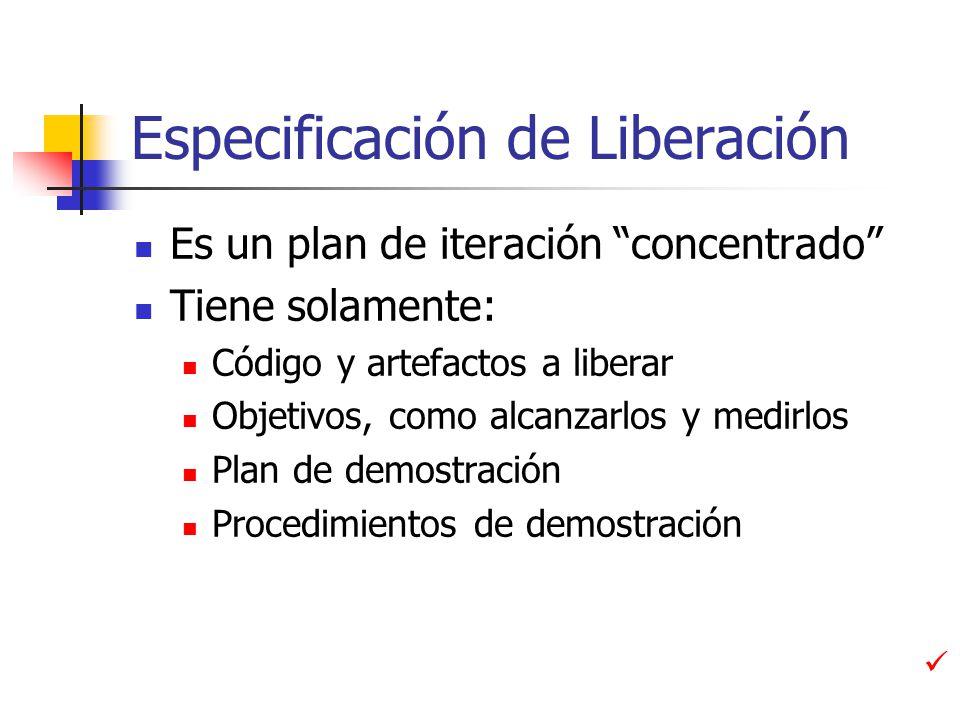 Especificación de Liberación
