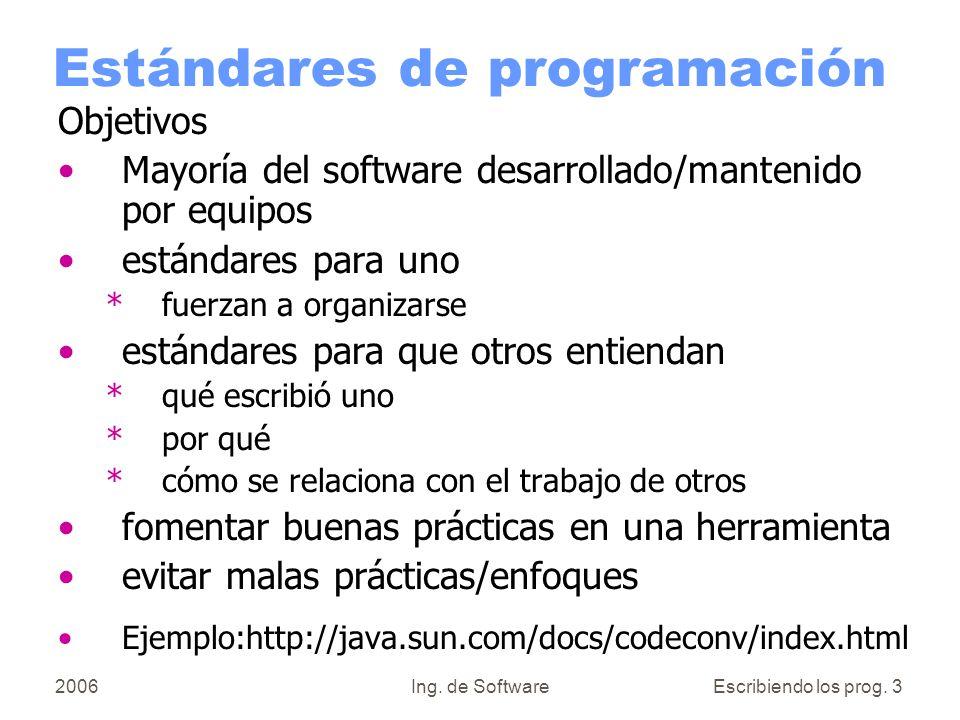 Estándares de programación