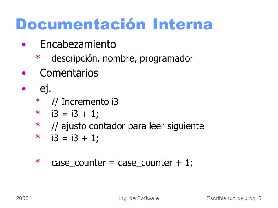 Documentación Interna