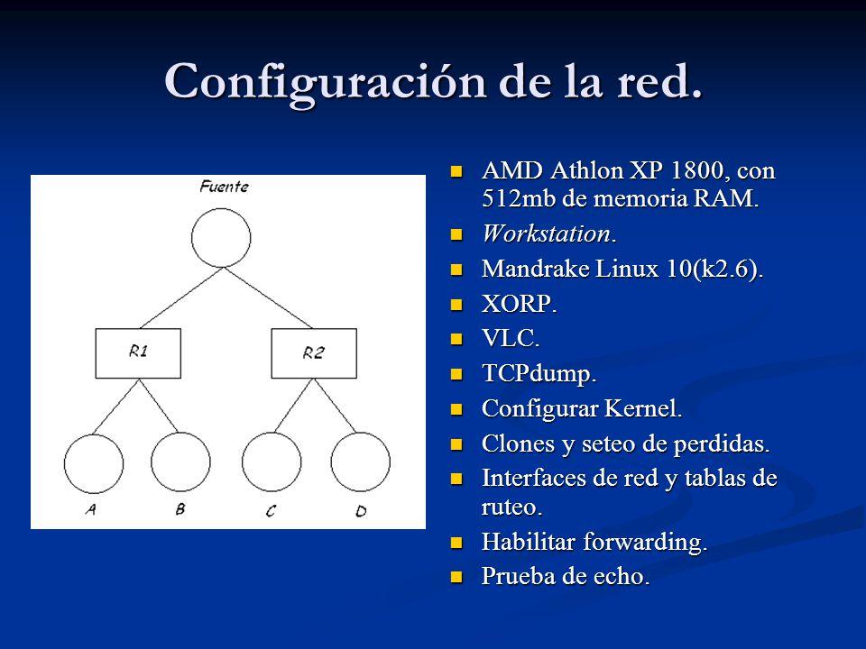 Configuración de la red.