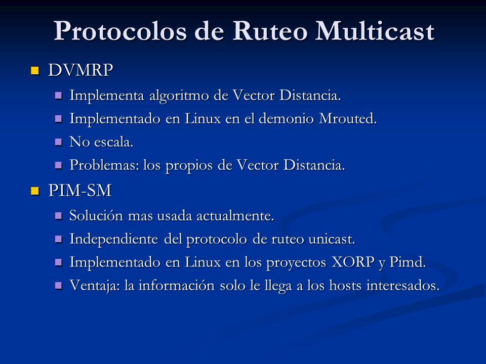 Protocolos de Ruteo Multicast