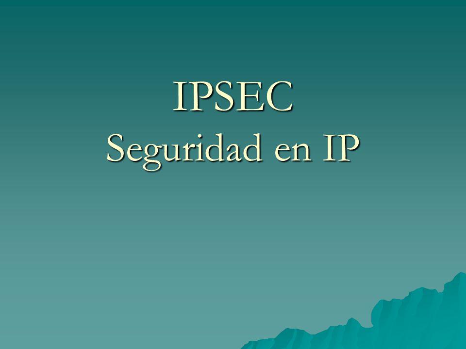 IPSEC Seguridad en IP