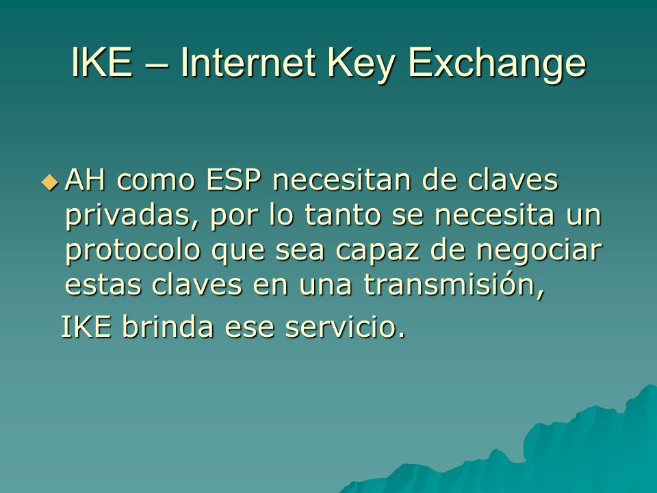 IKE – Internet Key Exchange