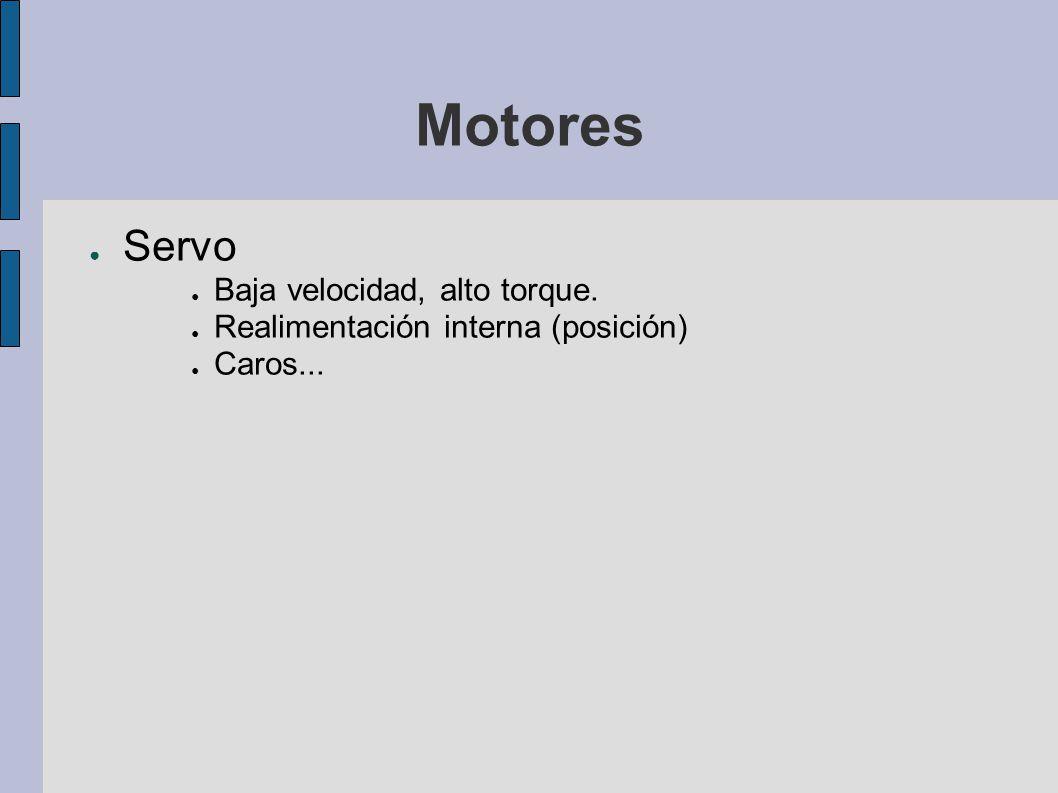 Motores Servo Baja velocidad, alto torque.