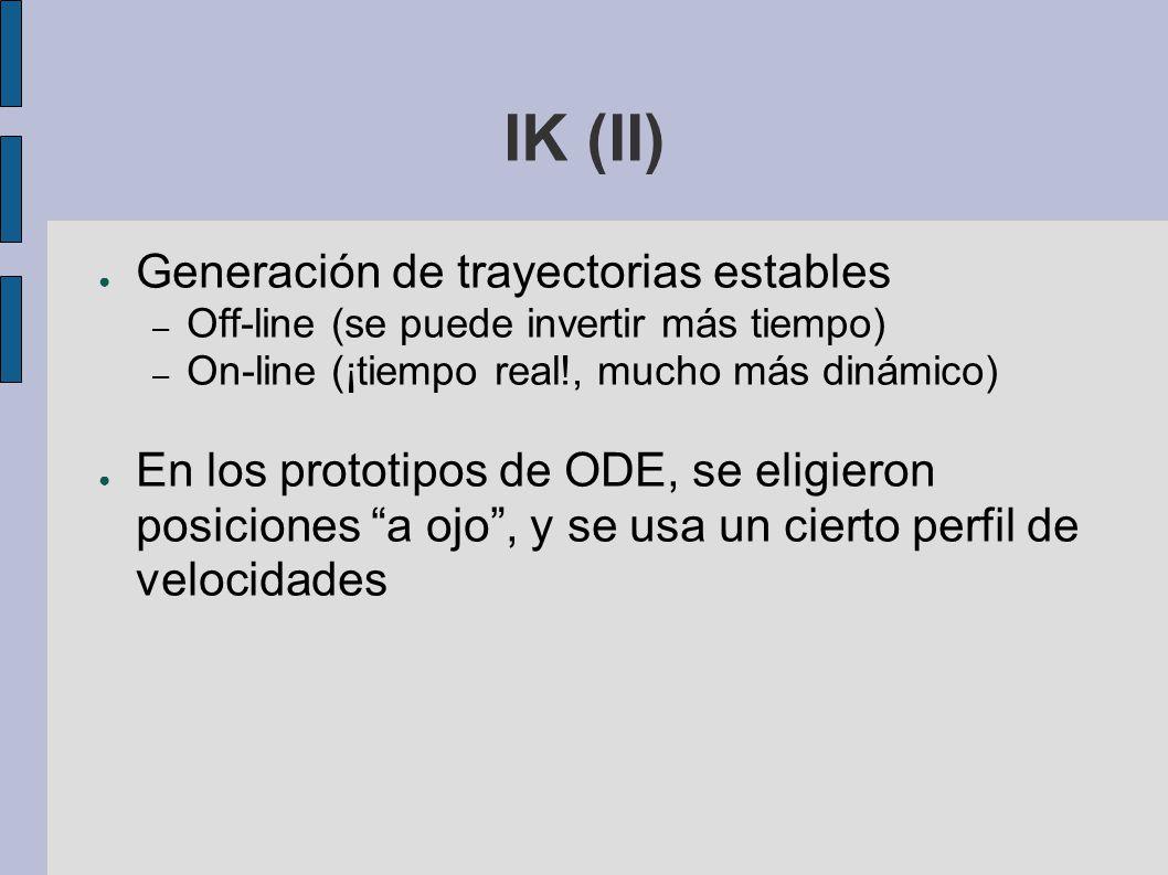 IK (II) Generación de trayectorias estables