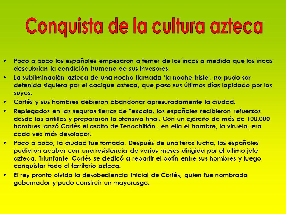 Conquista de la cultura azteca