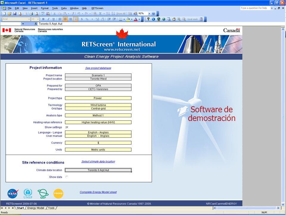 Software de demostración